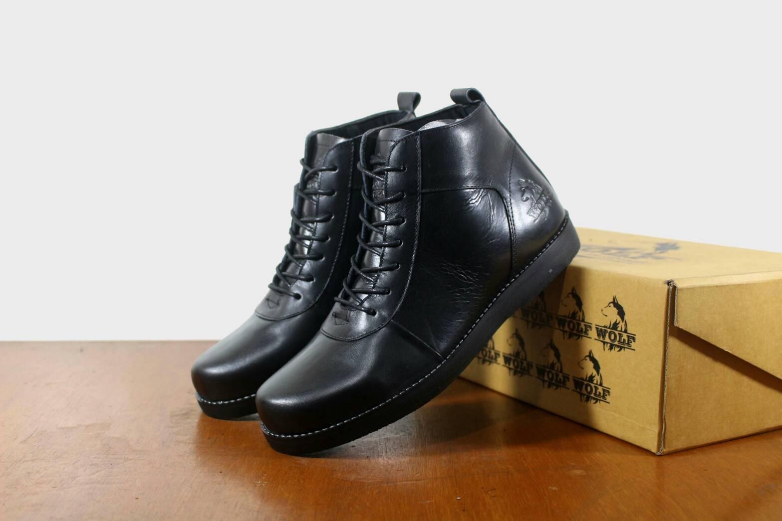 Sepatu Brodo Golden Original WOLF - Sepatu Brodo Boots Pria - Sepatu Boots kulit Asli