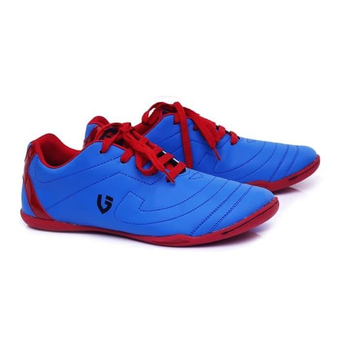 Sepatu laki-laki/sepatu pria sepatu futsal keren awet sudah di Sol sepatu bola putsal harga murah kualitas bagus model terbaru keluaran terbaru warna biru