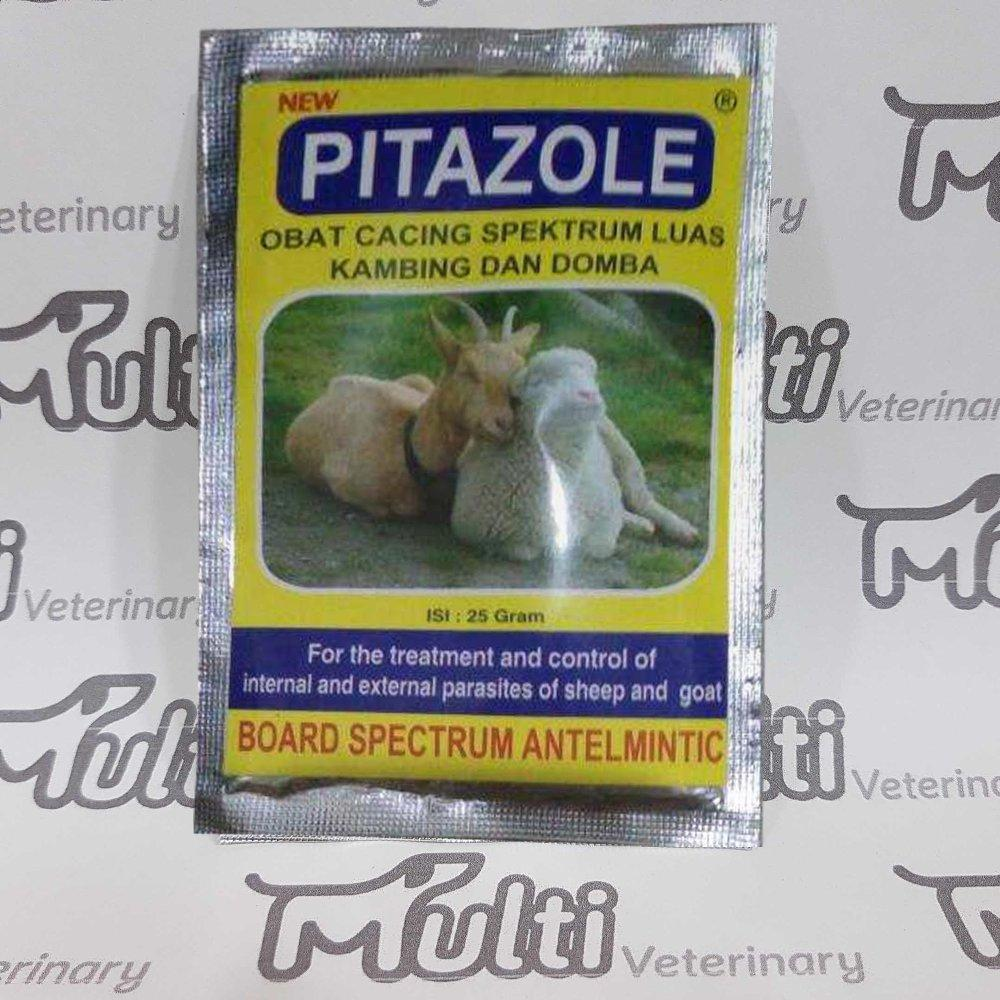Obat Cacing Kambing Pitazole 25gr Ternak Kambing Domba By Multi Veterinary.