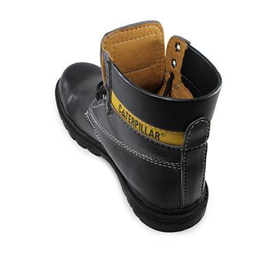 Sepatu Caterpillar Licin High Safety Original Black Sepatu Pria