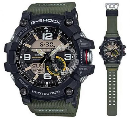 Casio G-Shock GG-1000-1A3DR MudMater Jam Tangan Pria Dual Time Water Resistant With Compas Aktif