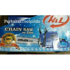 Best Seller Chain Saw H & L HL5200 / Mesin Gergaji Kayu (Go Send)
