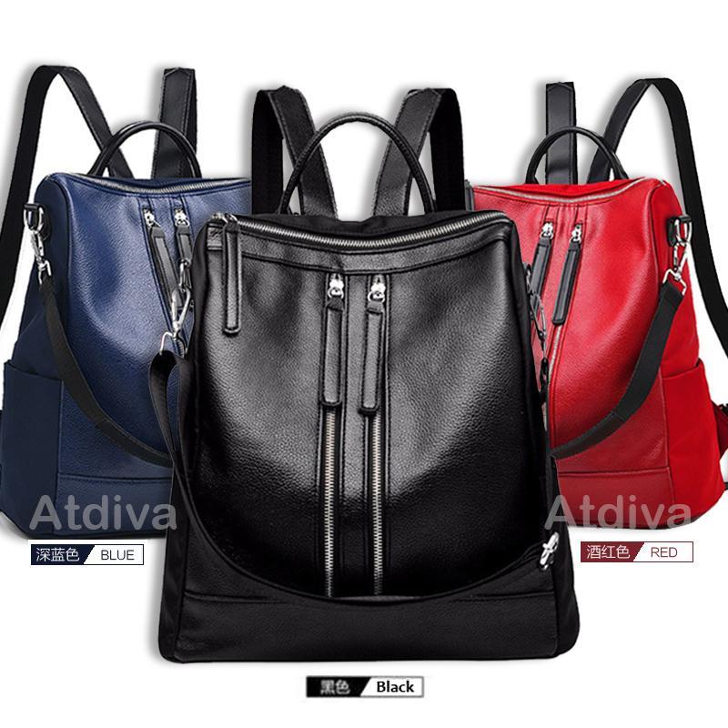Atdiva Korean Backpack Fashion Double Zipper Terbaru Wanita