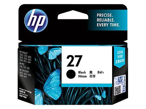 Tinta HP Original 27-C8727AA Black Ink Cartridge
