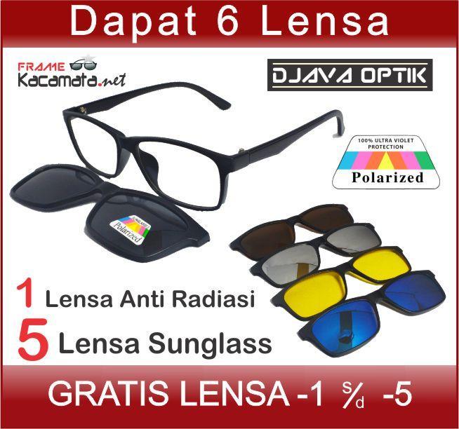 Kacamata Clip On 2215 + Lensa Minus Pria Wanita a4a010ea51