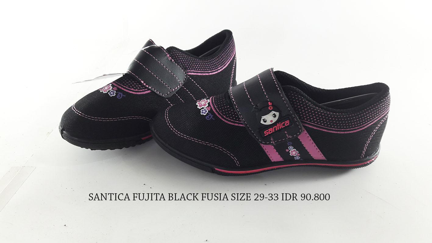 Buy Sell Cheapest Santica Takumi Sepatu Best Quality Product Deals Anak Perempuan Michiko Fujita Kets Hitam Fusia