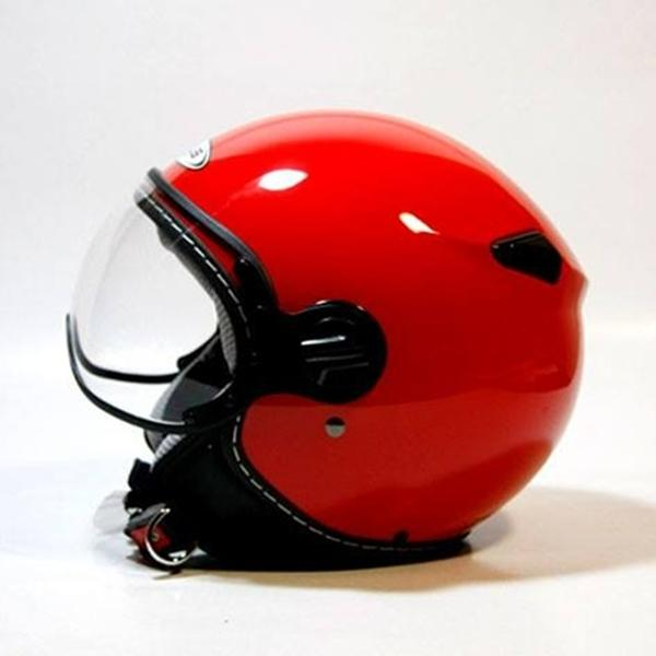 Zeus Helm Half Face Retro ZS-210K Red