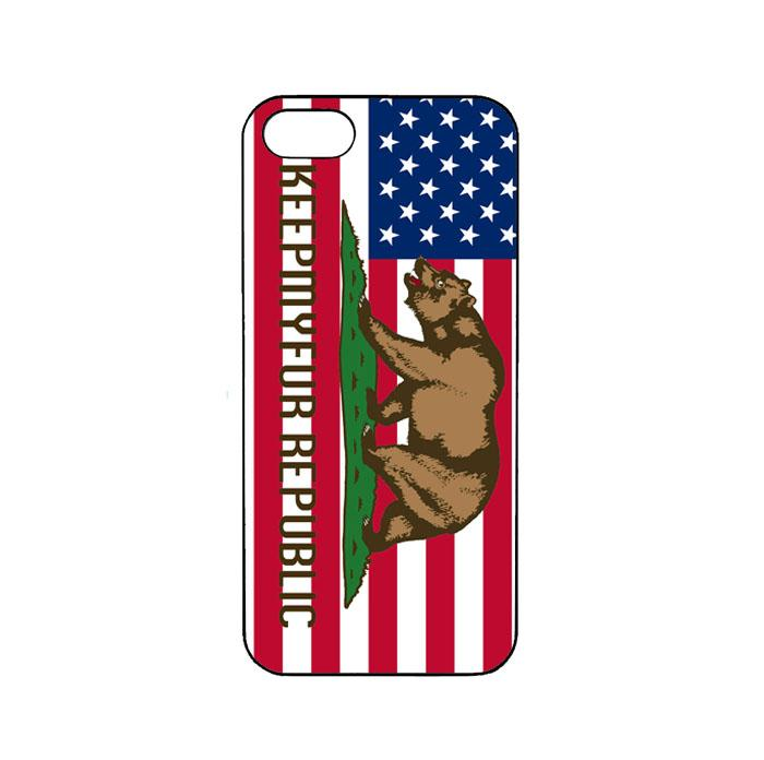 Casing Custom iPhone SE California Republic State Flag Wood_AC0010