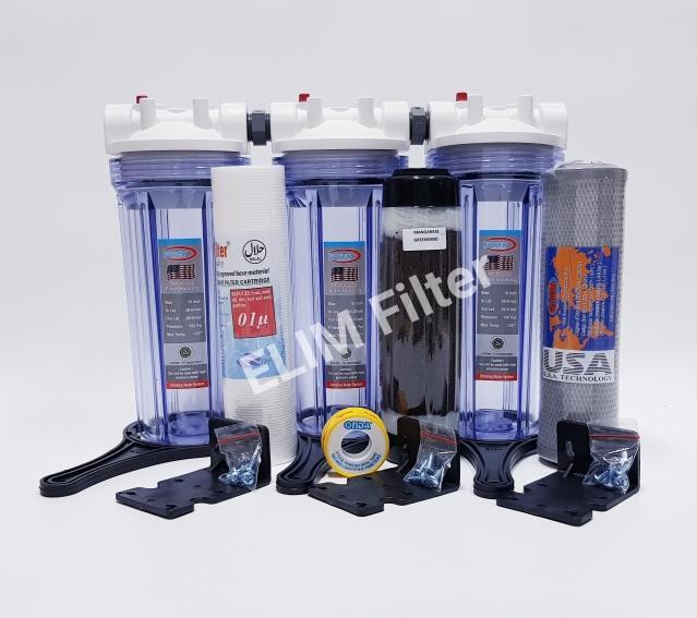 ELIM Filter - Paket 3 Eugen Housing 10 inch Set Filter Air Sumur / Filter Air