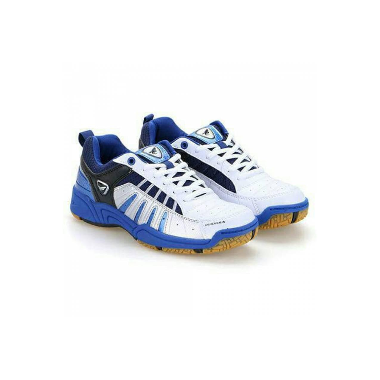 sepatu badminton. eagle super ace. white blue