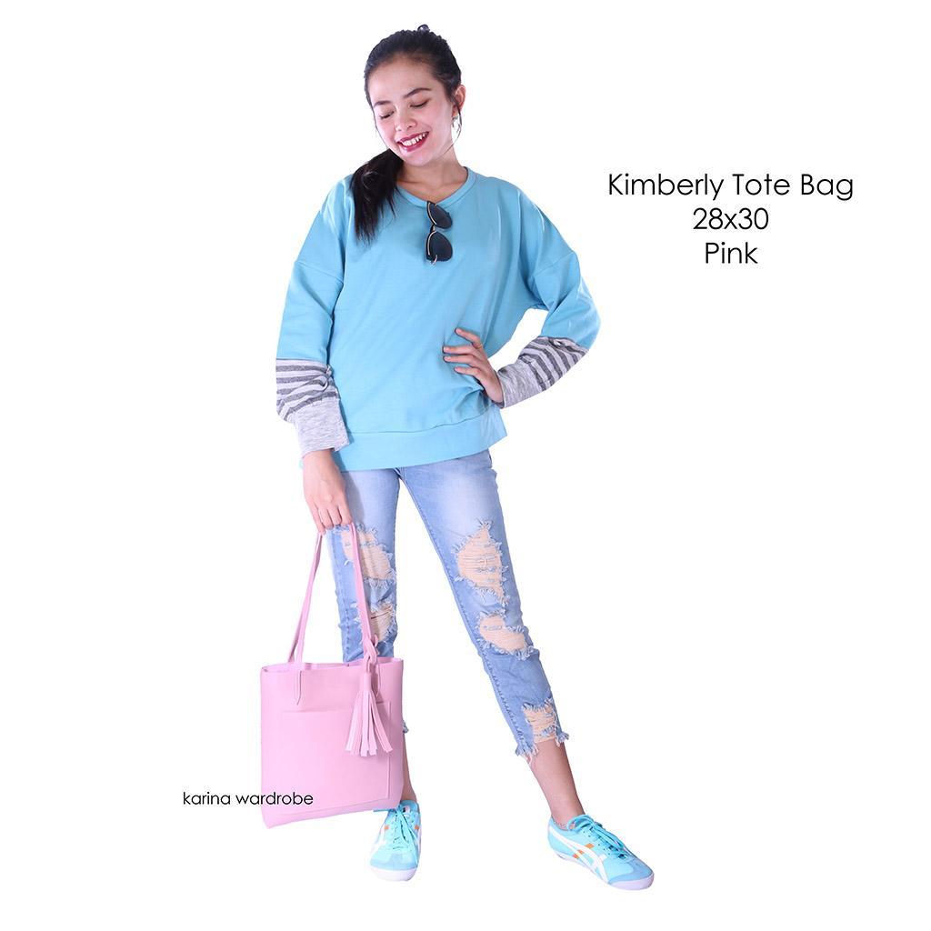 Karina Wardrobe - KIMBERLY TOTE BAG PINK - Tas Wanita - Tas Murah - Tas Ransel - Sling Bag- Tas Bah