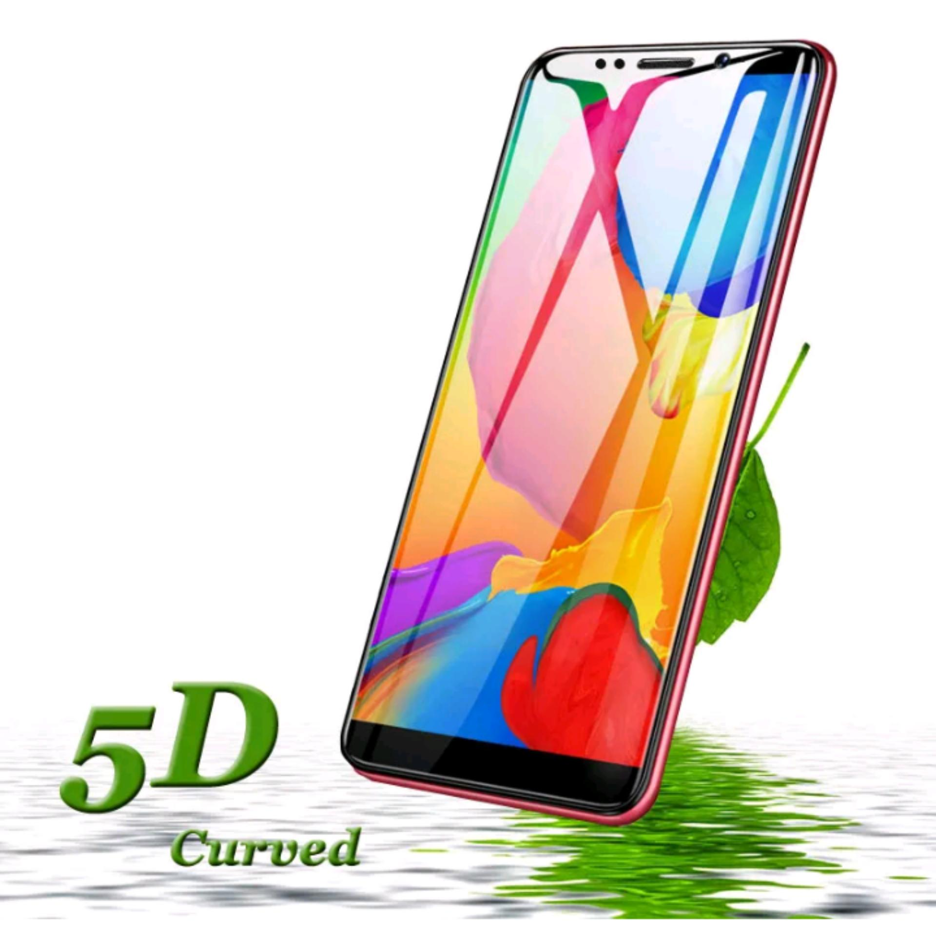 9Star Tempered Glass / Screen Protector For Xiaomi Redmi Note 5 Pro 5D Full Screen List Hitam