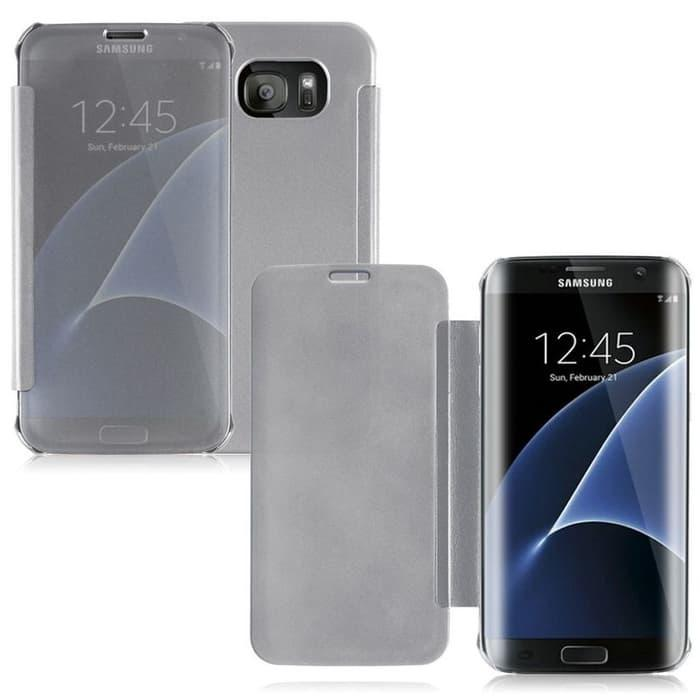 HARGA SPESIAL!!! Clear View Mirror Flip Cover Case for Samsung galaxy A9 pro 2016 - UeoXq1