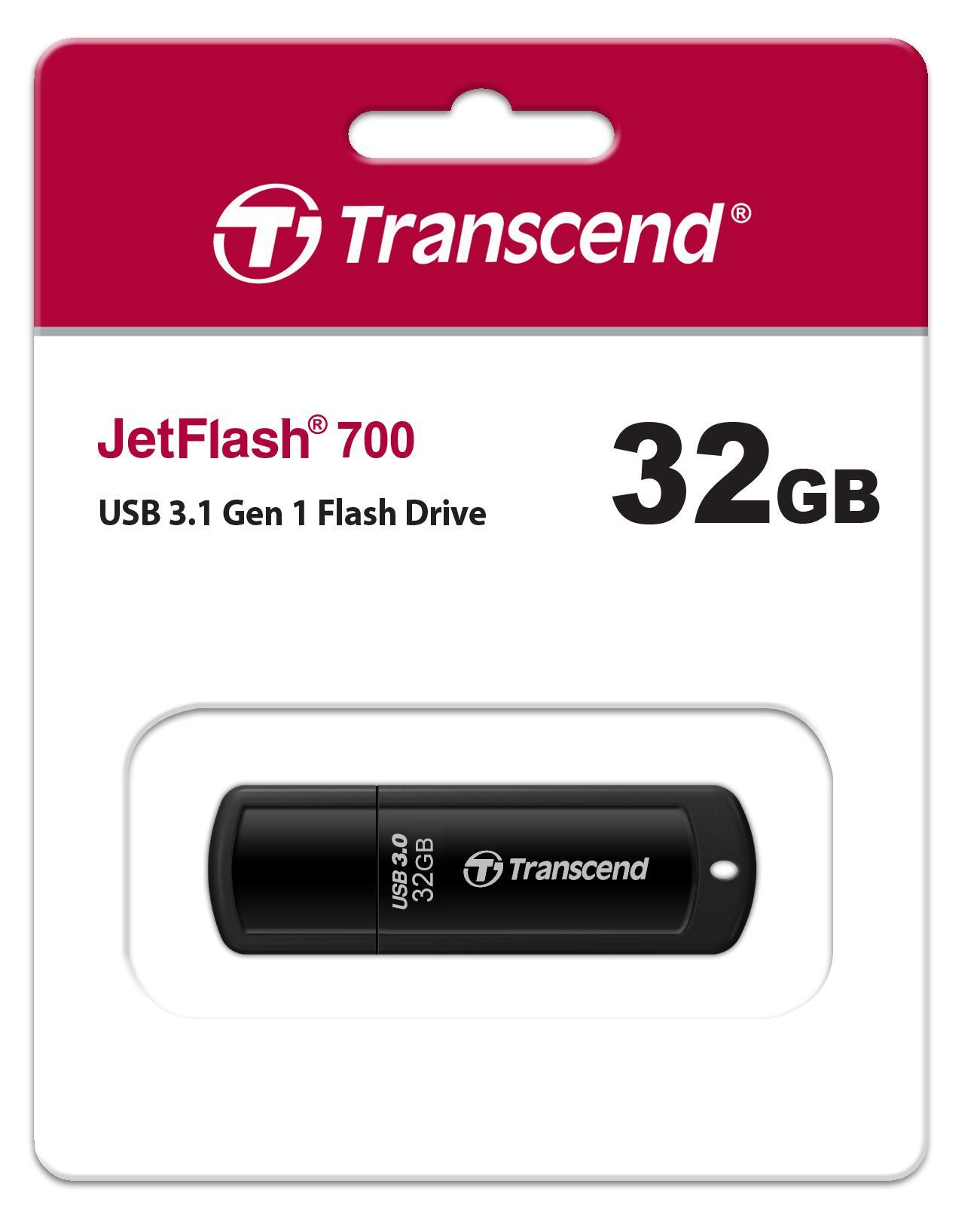 Transcend JetFlash 700 Flashdisk [32 GB/ USB 3.0]