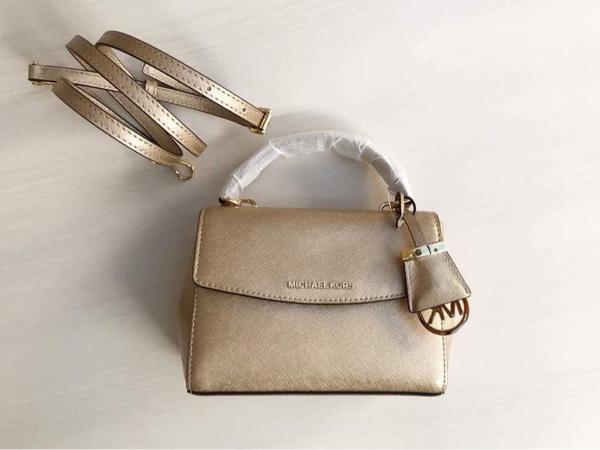 Promo Terbatas!! Michael Kors Ava Xs Pale Gold Tas Mk Original - ready stoC-K