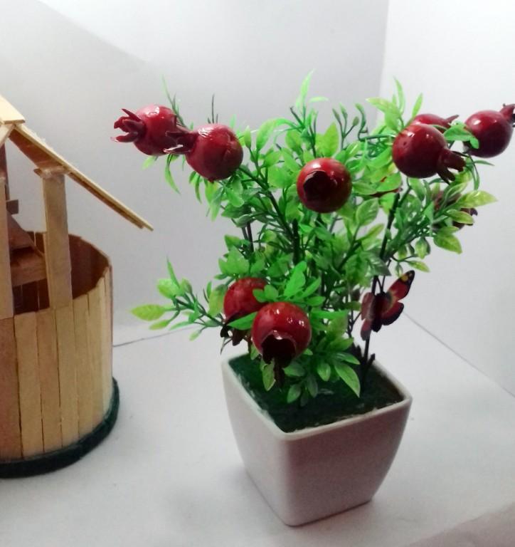 GL- Bunga Bonsai Plastik Hiasan Ruang tamu dan Kantor-bunga artifisial  dengan pot e8d740d966