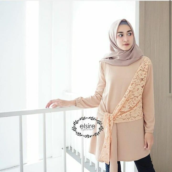 Baju Murah TerbaruBlus Nami Tunik Linen Ruby Panjang Blouse Casual Hijab  Tunic Pakaian b8cb922a51
