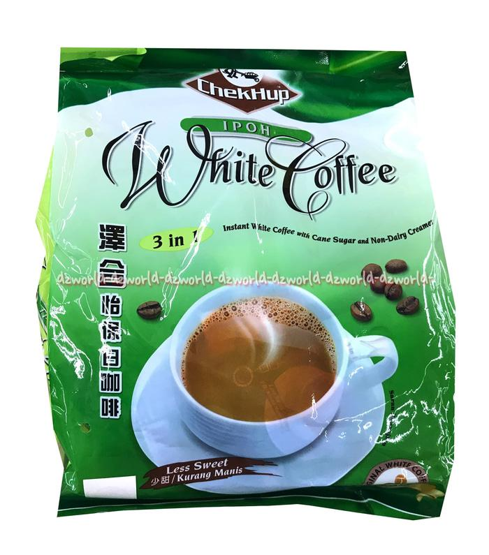 Chekhup White Coffee Ipoh Less Sweet Isi 15 Sachet Chek Hup