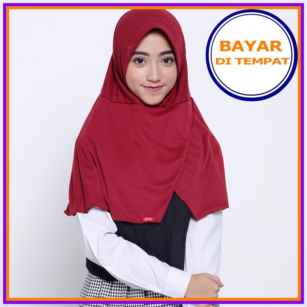 kerudung anak sekolah jilbab sekolah hijab instan trendy jilbab syari hijab SD SMp SMA hijab seragam sekolah Multi Warna