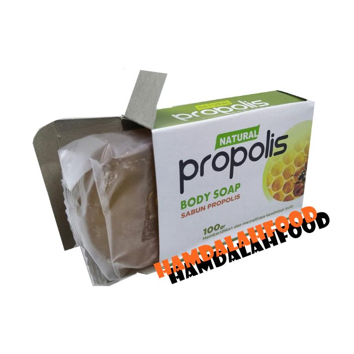 Hamdalahfood Sabun Propolis Body Soap transparan HPAI 1 Pcs