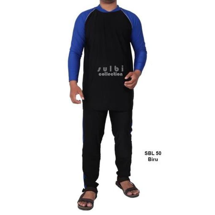 Baju Renang Pria Ukuran L dan XL Tangan Panjang Dewasa SBL-50