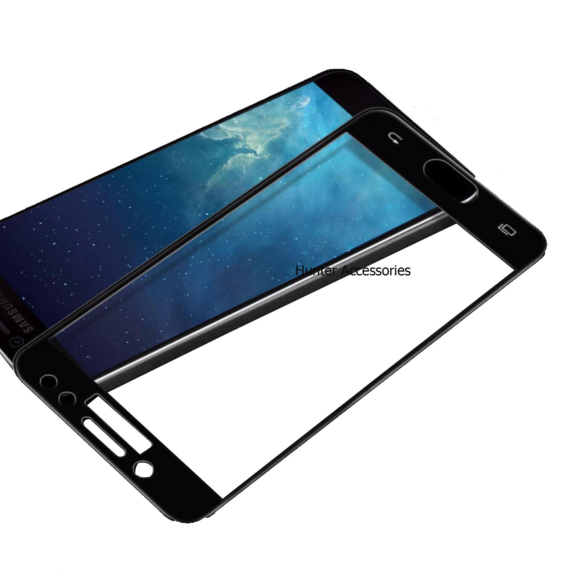 Tempered Glass Screen Protector / Anti Gores Kaca Samsung Galaxy J7 Plus / J7+ - Hitam