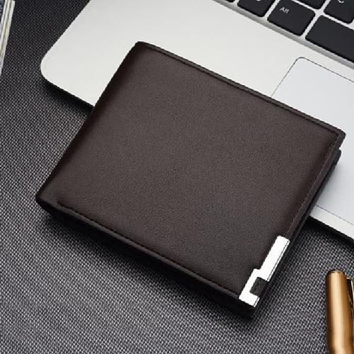 Dompet Pria Pendek Kulit Sintetis Polos PU Leather Model Baellery / Curewe Kerien Premium - Dompet Pendek Cowok / Laki Laki Keren Impor Good Quality