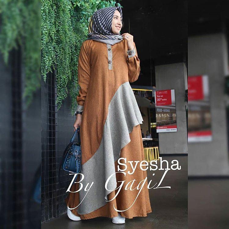 """""""BC SYEHSA"""" Maxi Dress Syari Gamis Bahan Balotely Wolfice Katun Rubiah Spandek Panjang Hijab Casual Pakaian Wanita Trand Terbaru Fashionable"""