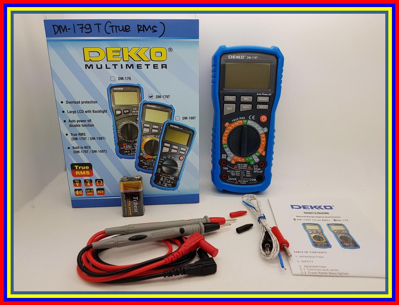 Buy Sell Cheapest Multitester Digital Dekko Best Quality Product Avo Meter Dm 133d High Dm179t True Rms Temperature Suhu