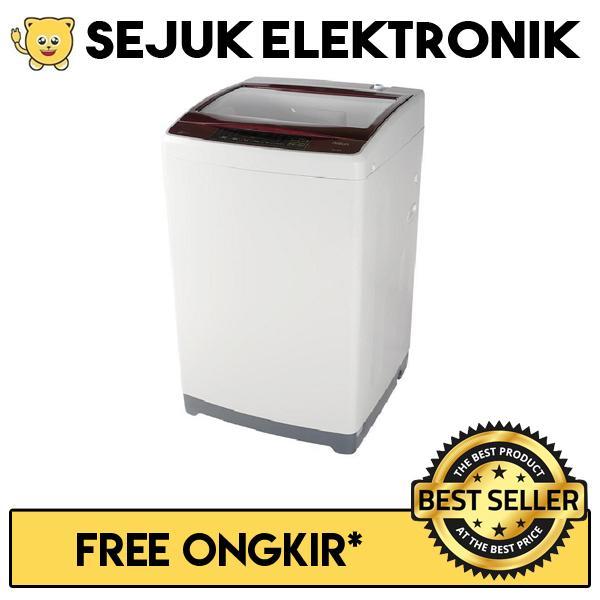 Aqua AQW98DD Mesin Cuci Top Loading 9 KG Putih Merah (KHUSUS JADETABEK)