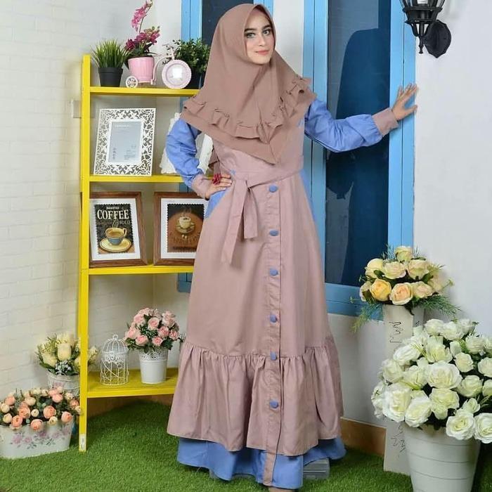 Gamis busui murah / Dress muslimah / Jual Baju wanita : Marisa Dress
