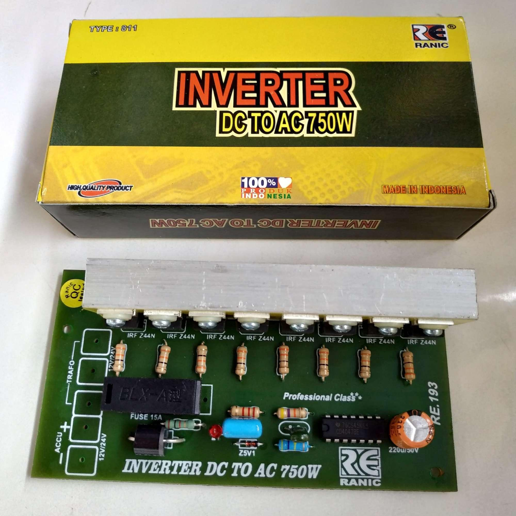 Kit Inverter 12V / 24V DC To 220V AC 750W