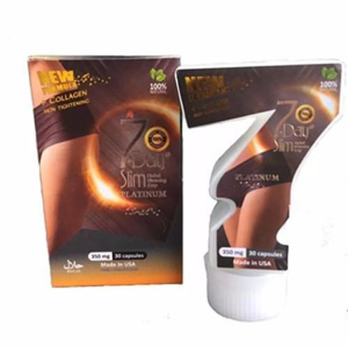 7 Day Slim Platinum New Formula + Collagen Suplemen Pelangsing Original