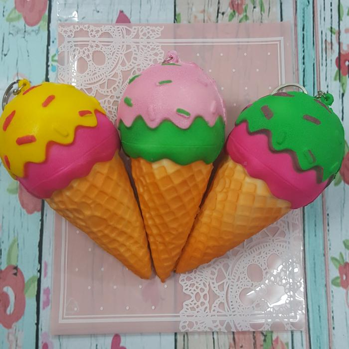 TERMURAH TERLARIS Squishy Murah Ice Cream Cone with Melted Flavour and Meses