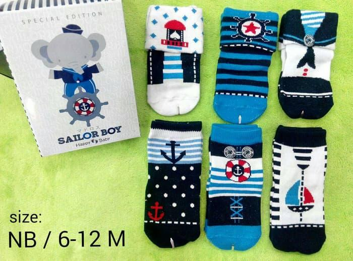 Kaos Kaki Sailor for Boy 6 in 1 usia 6-12 bulan