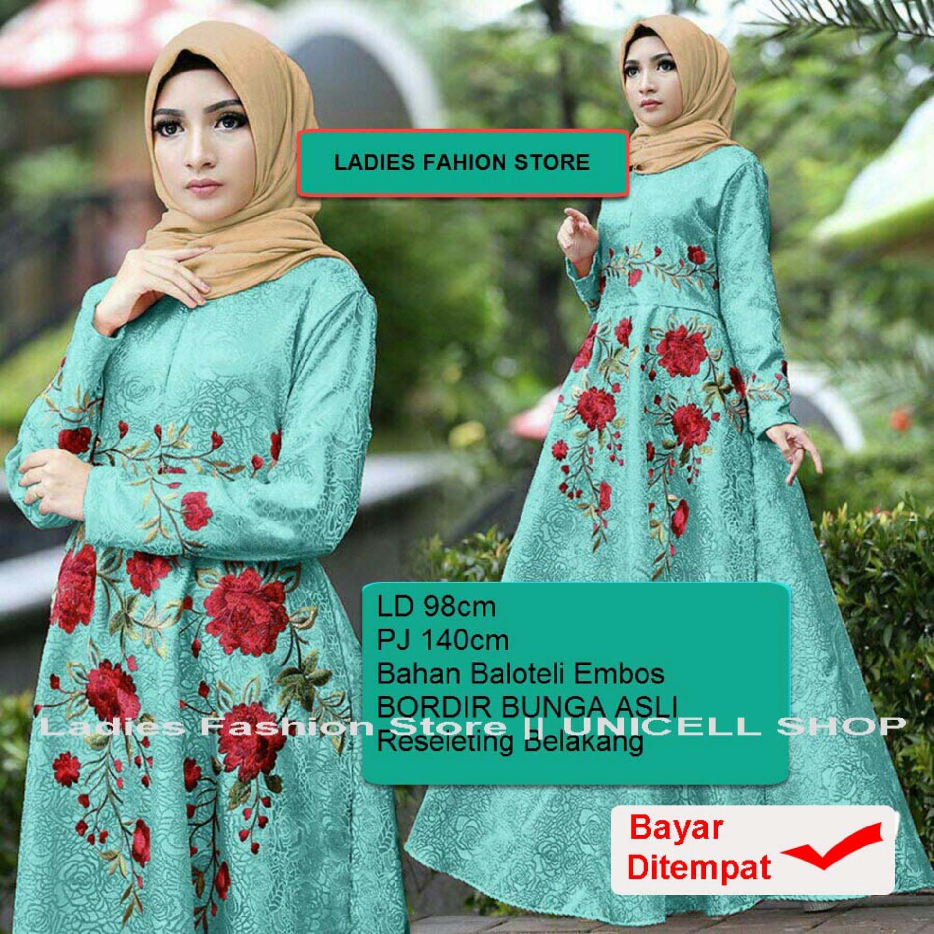 UC Dress Baju Gamis Muslim Iyana/ Set Terusan Maxi Hijab Syar'i/ Syari Simple Elegant / Baju Muslimah Wanita / Kebaya Modern Baloteli Tanpa Pasmina (anaay) SS - Tosca / Gaun Pesta