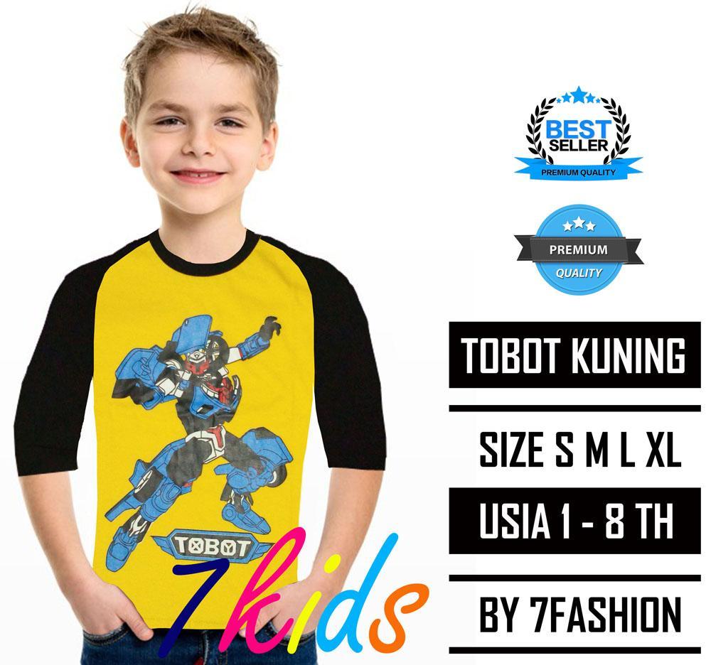 KAOS ANAK TOBOT KUNING - 7KIDS