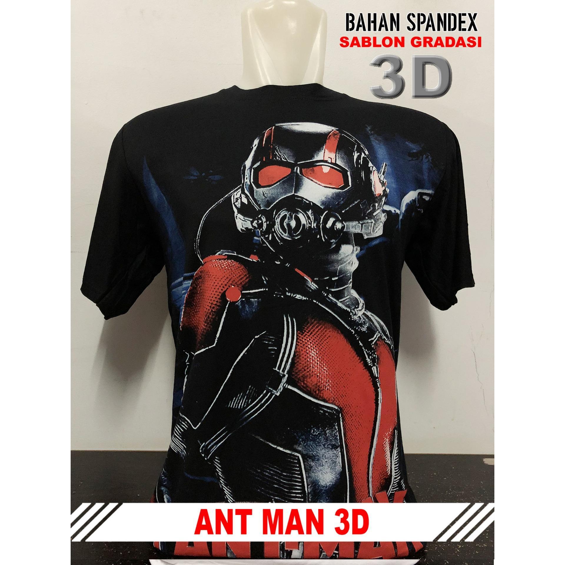 Anime ID - Kaos T-Shirt Distro / kaos Pria / Tshirt Pria / Distro Pria / Baju Pria 3D Ant Man - Hit