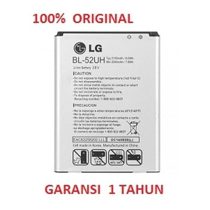 100% ORIGINAL Battery LG BL-52UH / LG D285 L65 Dual, F60, L65 D280, L7