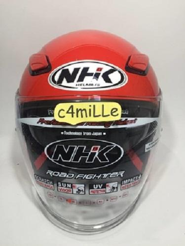 Helm NHK R1 / R 1 / R-1 double visor red ferrari / merah cabe