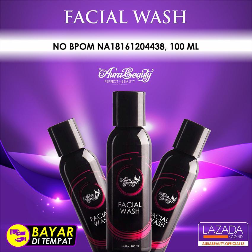 AURA BEAUTY Facial Wash - Sabun Wajah - Isi 100ml - Sabun Pencerah Wajah BEST SELLER