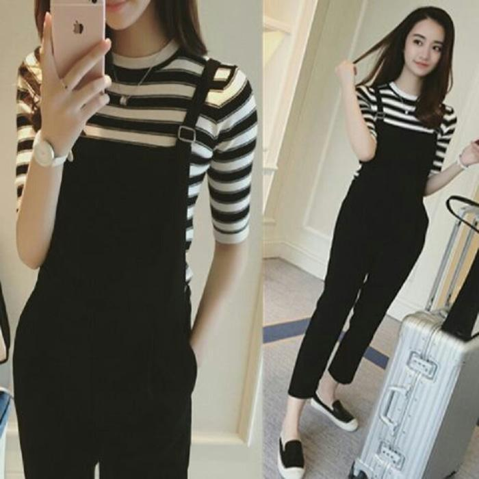 Baju Kodok Ladies / Wanita / Cewek Hitam Putih / Black White