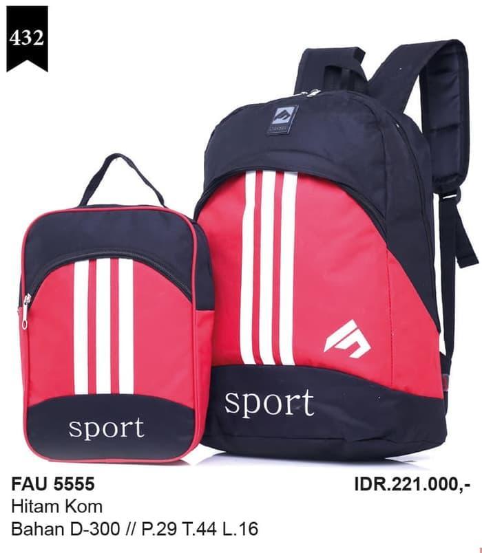tas ransel murah+rain coat,tas backpack,tas kuliah FAU 5555 / tas