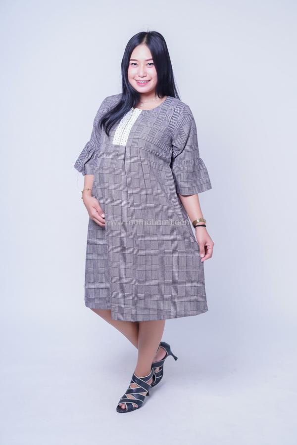 Dress Hamil Menyusui Kotak Soft Denim / Baju Modern / Dress Korea / Baju Kekinian / Baju Hamil Kerja / Baju Hamil dan Menyusui / Hamil / Kehamilan / Ibu Hamil / Harga Mumer / Terbaru.
