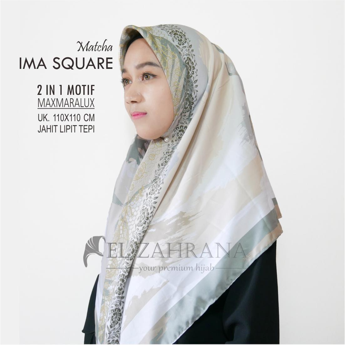 Jual square hijab monalisa murah garansi dan berkualitas ID Store Source · El Zahrana Kerudung Segi