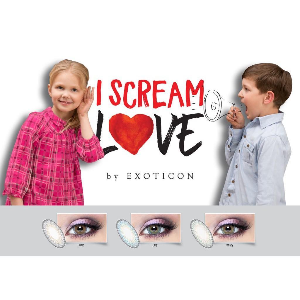 Gensaoptik Softlens I Scream Love HUGS -3.25 s/d -6.00 / Softlense X2 Exoticon Minus MPS BBS 135