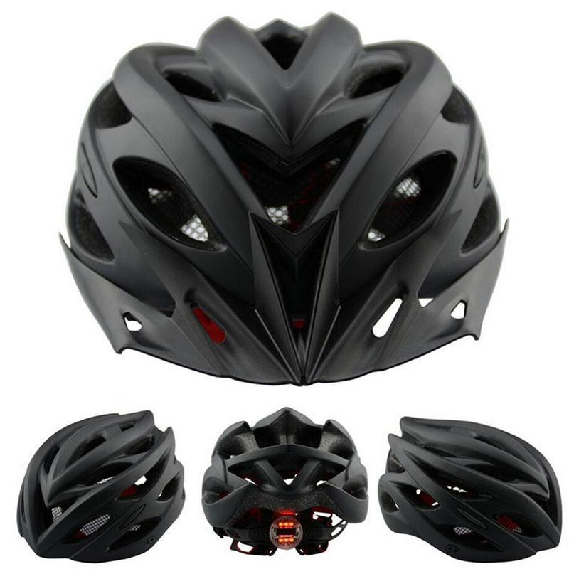 Helm Sepeda EPS PVC Shell dengan Lampu Backlight - Black