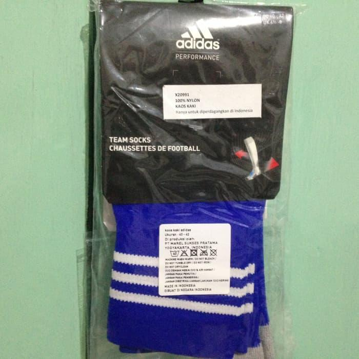 HARGA SPESIAL!!! Adidas Adisock 12 Biru Strip Putih Size 43-45. Kaos Kaki Sepak Bola - gK5Eee