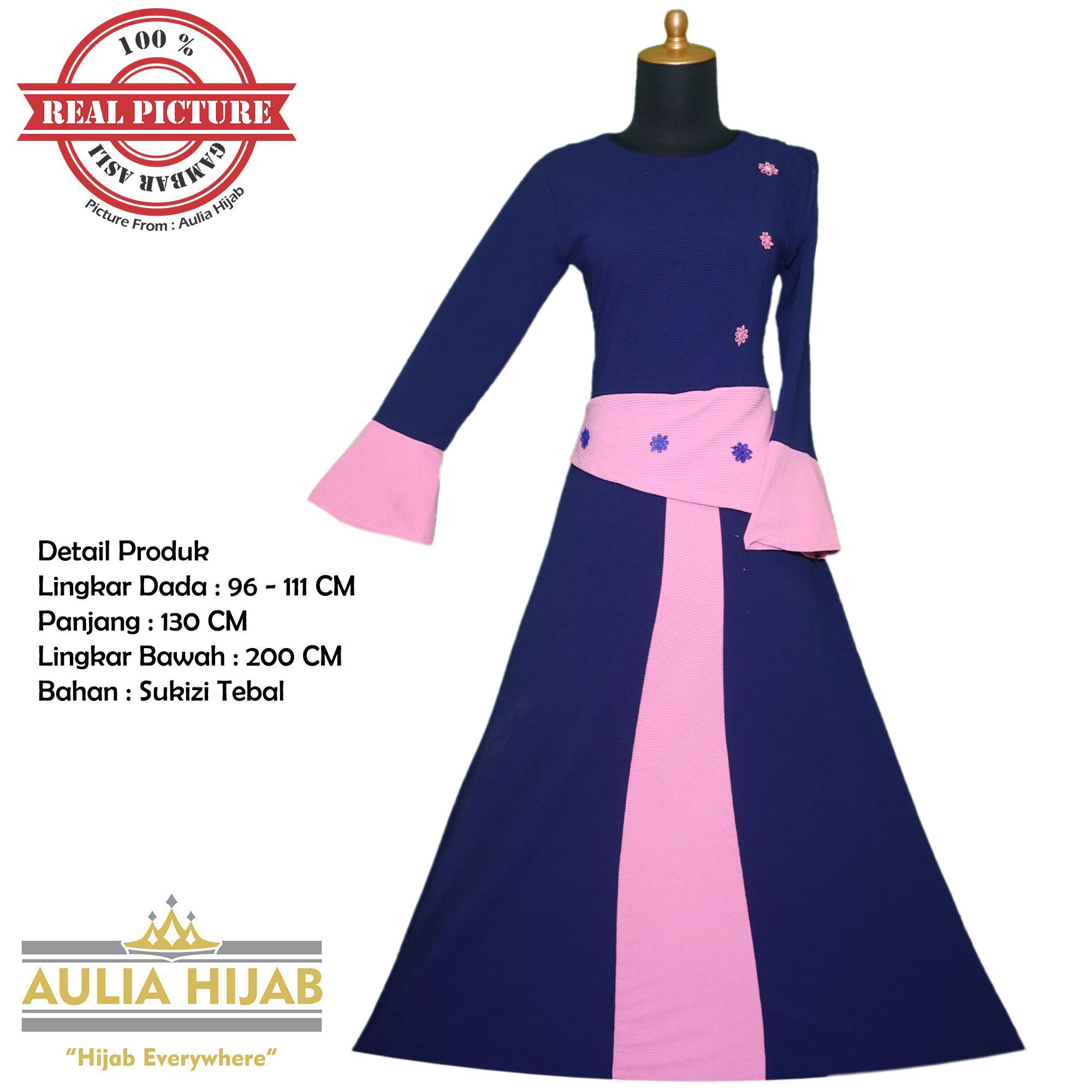 Aulia Hijab - Gamis Sabrina Dress Bahan Sukizi Tebal Premium/Gamis Sukizi/Gamis Kaos/Gamis Murah/Gamis Bahan Tebal/Gamis Polos/Gamis Kerja/Gamis Lebaran/Gamis Terbaru/Gamis Mewah/Gamis Best Seller