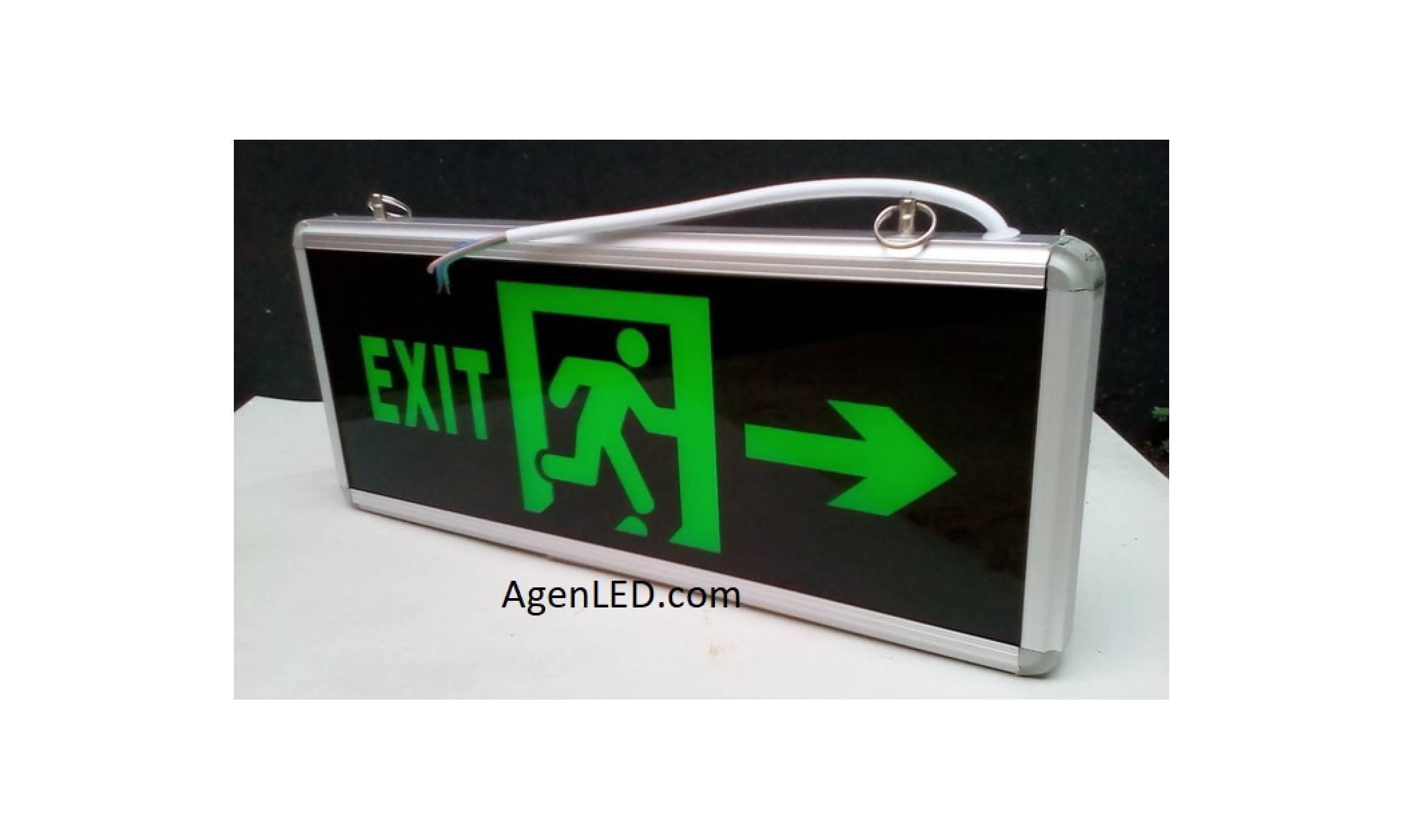 Lampu EXIT LED / Lampu petunjuk darurat Emergency EXIT Lamp 2 sisi -M2